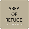 Brown Area of Refuge ADA Sign