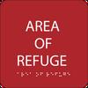 Red Area of Refuge ADA Sign