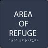 Navy Area of Refuge ADA Sign