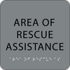 Grey Area of Rescue Assistance ADA Sign