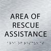 Aluminum Area of Rescue Assistance ADA Sign