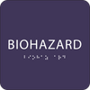 Purple Biohazard ADA Sign