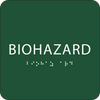 Green Biohazard ADA Sign