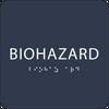 Navy Biohazard ADA Sign