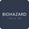 Navy Biohazard ADA Sign