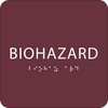 Burgundy Biohazard ADA Sign