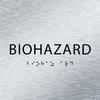 Aluminum Biohazard ADA Sign