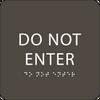 Olive Do Not Enter ADA Sign
