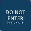 Dark Blue Do Not Enter ADA Sign