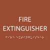 Orange Fire Extinguisher ADA Sign