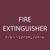 Burgundy Fire Extinguisher ADA Sign