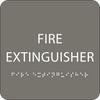Dark Grey Fire Extinguisher ADA Sign