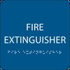 Blue Fire Extinguisher ADA Sign