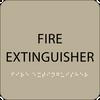 Brown Fire Extinguisher ADA Sign