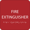 Red Fire Extinguisher ADA Sign