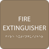 Brown Fire Extinguisher Tactile Sign
