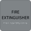 Grey Fire Extinguisher Tactile Sign