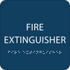 Dark Blue Fire Extinguisher ADA Sign