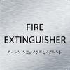 Aluminum Fire Extinguisher ADA Sign