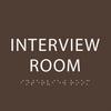 Dark Brown Interview Room ADA Sign