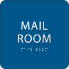 Blue Mail Room ADA Sign