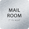 Aluminum Mail Room ADA Sign