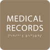 Brown Medical Records Tactile Sign