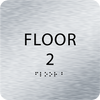 Aluminum Floor 2 Identification Sign