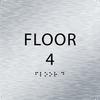 Aluminum Floor 4 Number Identification Sign