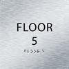 Aluminum Floor 5 Level Identification Sign