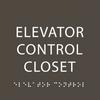 Olive Elevator Control Closet ADA Sign