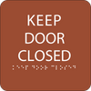 Orange Keep Door Closed ADA Sign