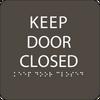 Olive Keep Door Closed ADA Sign