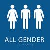 Blue All Gender Restroom Sign