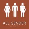 Orange All Gender Restroom Sign
