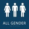 Dark Blue All Gender Restroom Sign