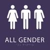 Purple All Gender Restroom Sign