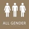 Brown All Gender Restroom Sign