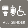 Dark Grey All Gender Neutral Restroom Sign