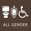 Coffee All Gender Neutral Restroom Sign