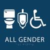 Dark Blue All Gender Neutral Restroom Sign