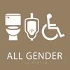 Light Brown All Gender Neutral Restroom Sign