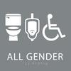 Grey All Gender Neutral Restroom Sign