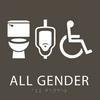 Olive All Gender Neutral Restroom Sign