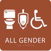 Orange All Gender Neutral Restroom Sign