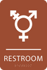 Orange Inclusive Restroom ADA Sign