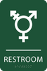 Green Inclusive Restroom ADA Sign