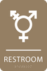 Light Brown Inclusive Restroom ADA Sign