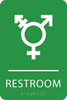 Light Green Inclusive Restroom ADA Sign