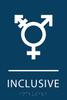 Dark Blue Inclusive Gender Neutral Bathroom Sign